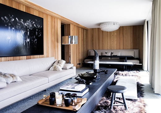 un luxueux chalet contemporain st moritz planete deco a homes world. Black Bedroom Furniture Sets. Home Design Ideas
