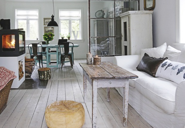 Recyclage et brocante dans un int rieur scandinave planete deco a homes world - Interieur deco brocante ...