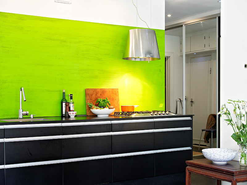 On ose le vert citron en cuisine planete deco a homes world for Planete cuisine