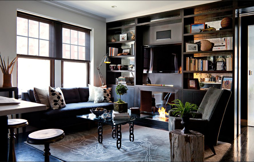 Un appartement masculin greenwich village planete deco - Deco appartement new york ...