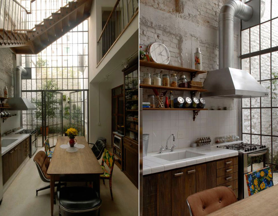 Une maison comme un loft industriel planete deco a homes world - Deco loft industriele ...