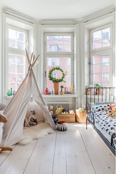 un tipi dans la chambre planete deco a homes world. Black Bedroom Furniture Sets. Home Design Ideas