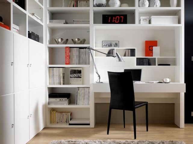 question de style un bureau chez soi pour travailler zen. Black Bedroom Furniture Sets. Home Design Ideas