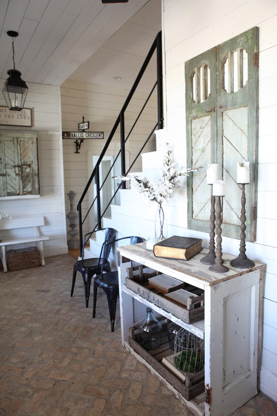 Une maison blanche au texas planete deco a homes world for Decoration maison blanche