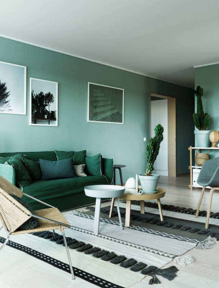 bleu et vert comme la mer planete deco a homes world. Black Bedroom Furniture Sets. Home Design Ideas