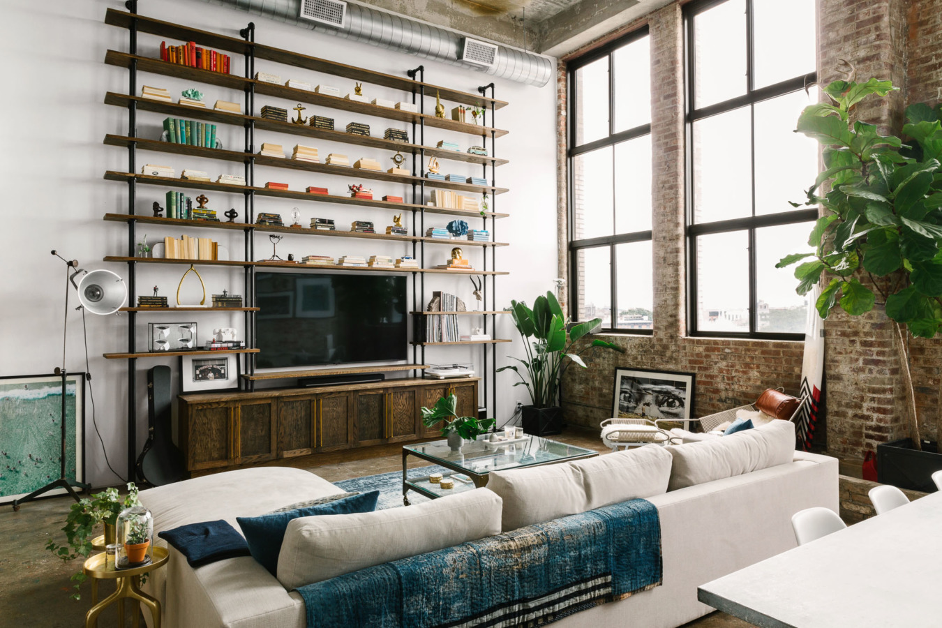 un loft industriel brooklyn planete deco a homes world. Black Bedroom Furniture Sets. Home Design Ideas