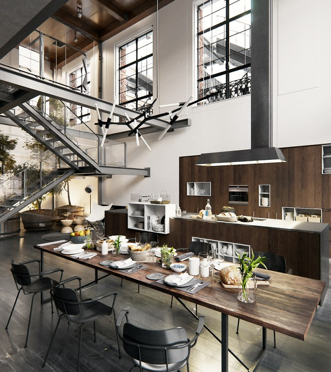 Un loft industriel new york planete deco a homes world for Nyc apartment kitchen ideas