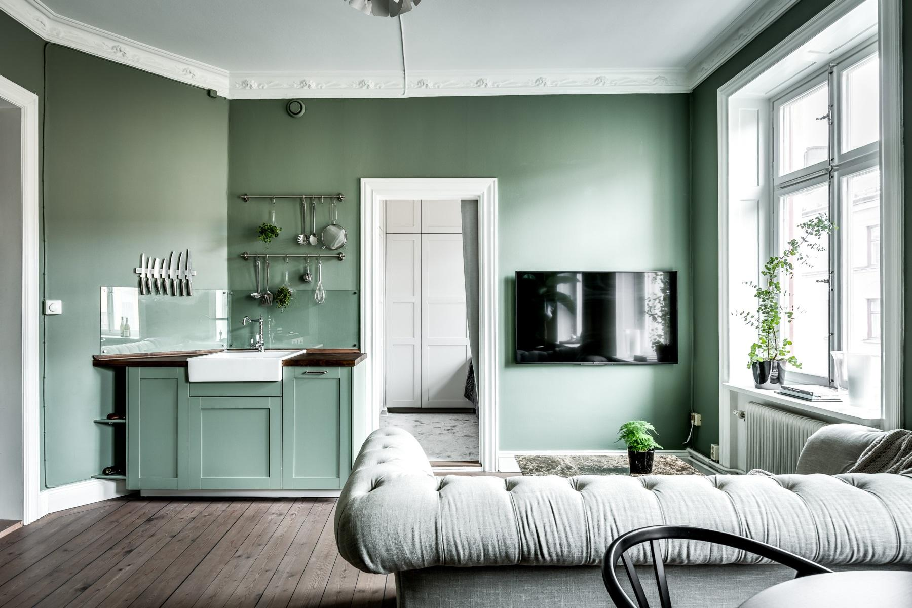 Ambiance vert d 39 eau planete deco a homes world - Deco tv muur ...