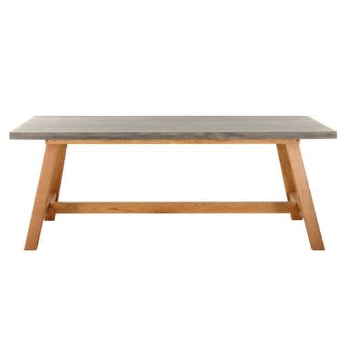 table beton cire maison du monde 2 tables basses gigognes en bois recycl et m tal l 60 cm. Black Bedroom Furniture Sets. Home Design Ideas