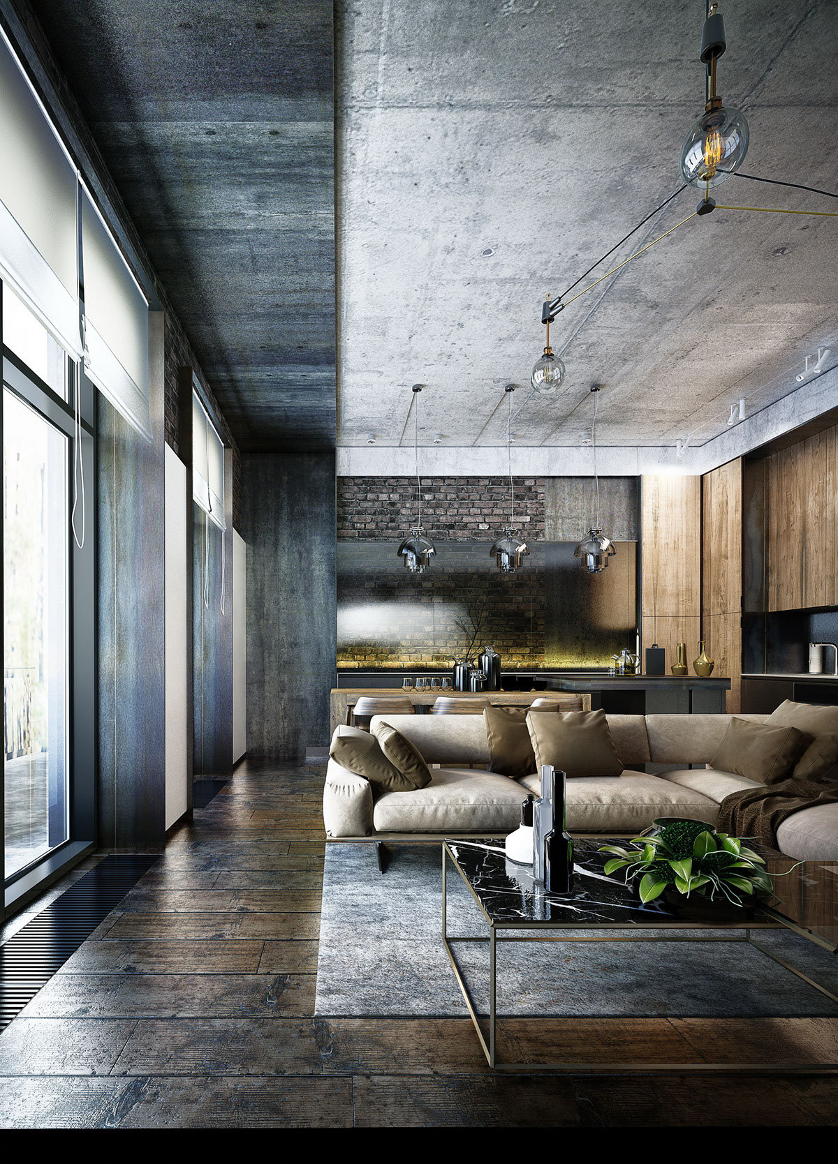 Un Loft Sombre En Ukraine Planete Deco A Homes World