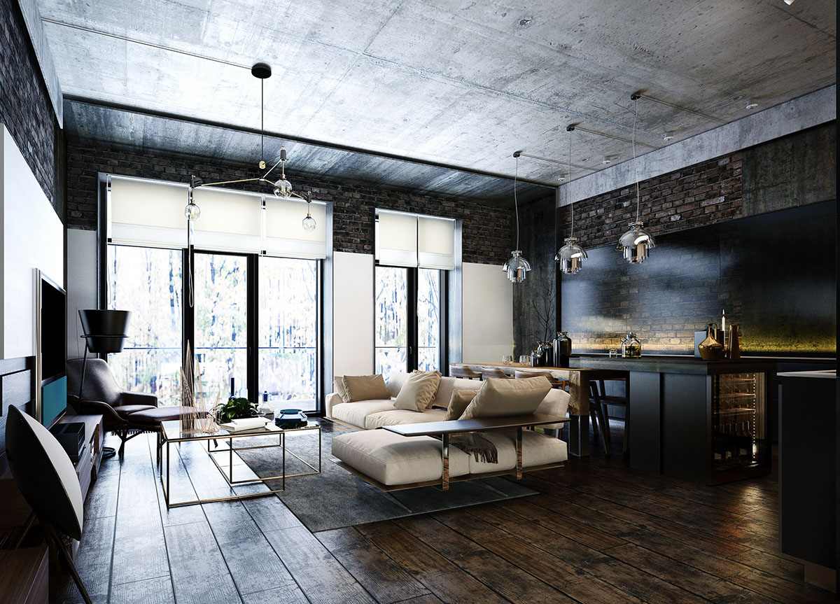 Un loft sombre en Ukraine | PLANETE DECO a homes world | Bloglovin\'