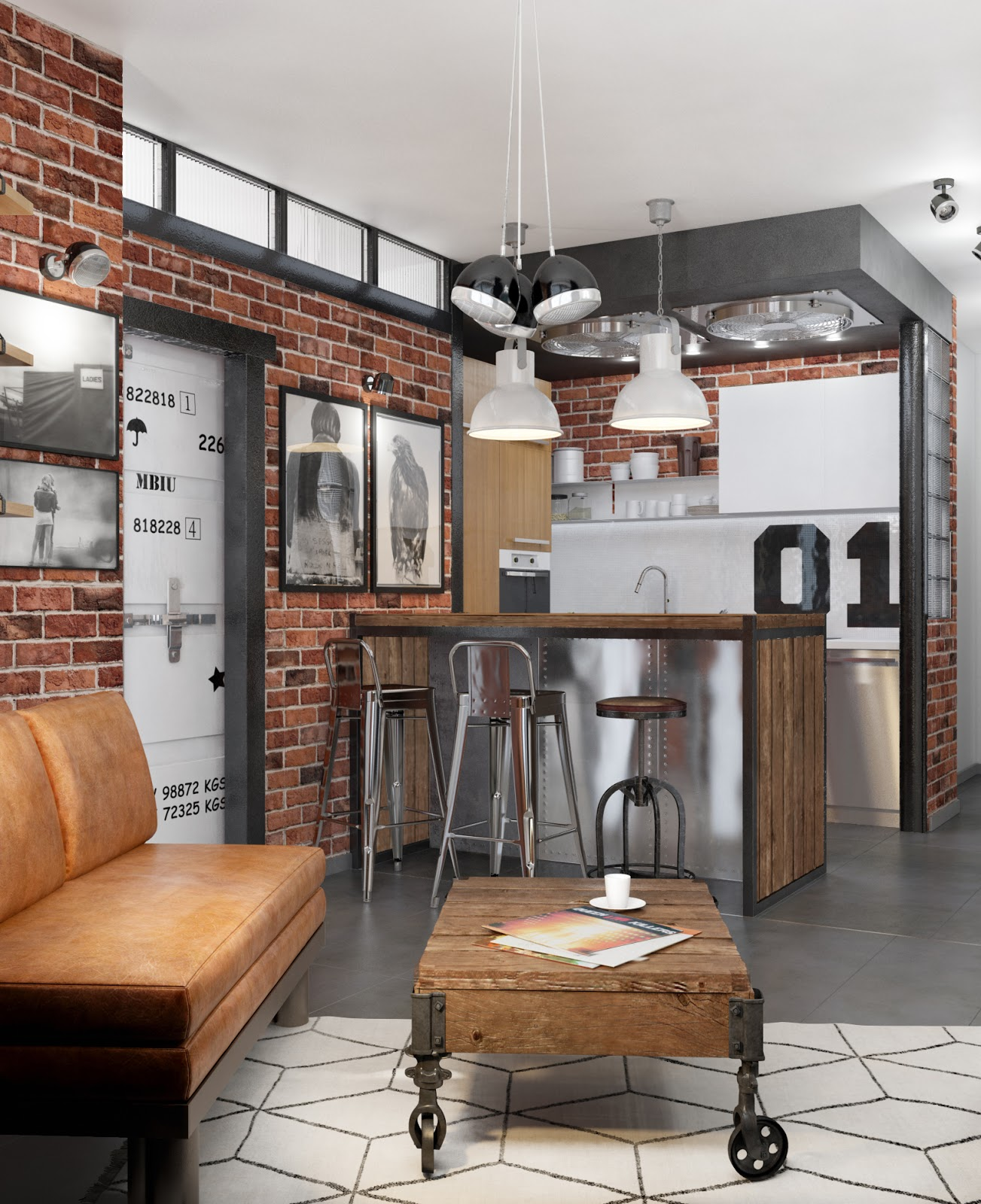 un loft fa on seventies en russie planete deco a homes world bloglovin. Black Bedroom Furniture Sets. Home Design Ideas