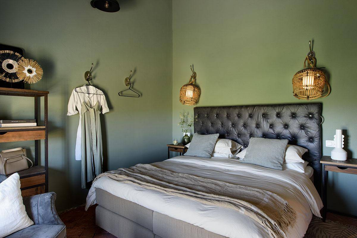 chambres murs verts